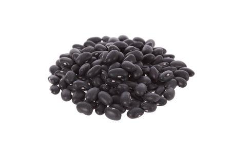 Fagioli neri tartaruga isolati su uno sfondo bianco