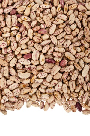 Pinto beans or mottled beans arranged in a frame photo