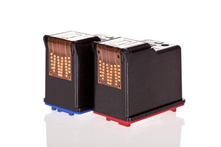 bubblejet: Printer Inkjet cartridges isolated on a white background