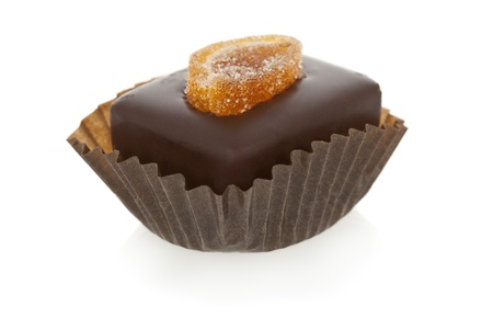 chocolate truffle: Gourmet chocolate truffle isolated on white background