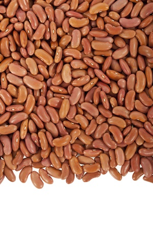 leguminous: Kidney beans or red beans arranged in a frame