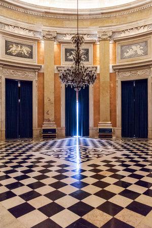 castle interior: Lisbon, Portugal, December 02, 2013  Ambassador