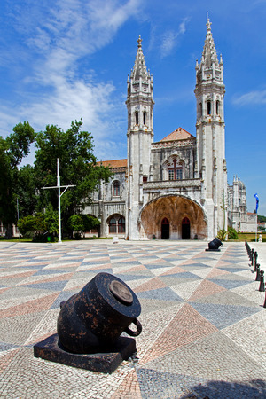 neo gothic: Maritime or Navy Museum  Museu de Marinha  in Belem, Lisbon Portugal  Integrated in the Jeronimos Monastery building