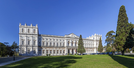 Ajuda National Palace  Lisbon, Portugal  19th century neoclassical Royal palace  One of the landmarks of the Portuguese capital  Editorial
