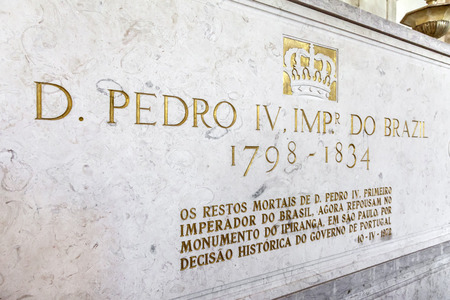 liberator: Tomb of the liberator and 1st Emperor of Brazil, Pedro I  IV of Portugal   Royal Pantheon of the House of Braganza  Sao Vicente de Fora Monastery  Lisbon  Editorial