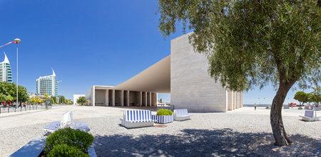 alvaro: Lisbon, Portugal - August 02, 2013  Portuguese Pavilion in Parque das Nacoes  By the Pritzker Award winner architect, alvaro de Siza Vieira  Editorial