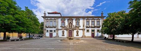 cityhall: Guimaraes, Portugal - April 25, 2013  Guimaraes City-Hall in the former Santa Clara nunnery building  Unesco World Heritage site