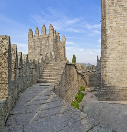 Guimaraes Castle interior, the most famous  castle in Portugal as it was the birth place of the first Portuguese King and the Portuguese nation  Unesco World Heritage Site