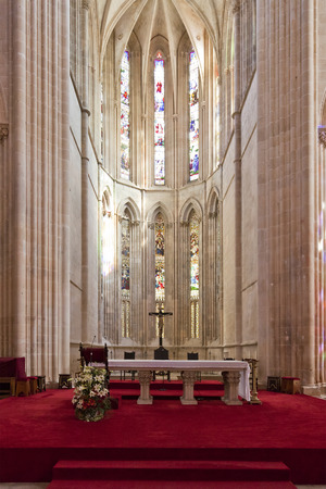 Batalha Monastery  Altar and  Apse of the Church  Gothic and Manueline masterpiece  Portugal  UNESCO World Heritage Site