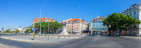 Lisbon, Portugal. August 31, 2014:  Duque da Terceira Square, in Cais do Sodre. This area is well known Lisbon nightlife spot. Editorial