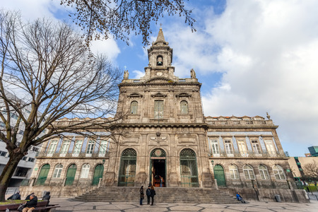 the 19th century: Porto, Portugal. January 5, 2015: Trindade Church. 19th century Neoclassical architecture. Unesco World Heritage Site Editorial