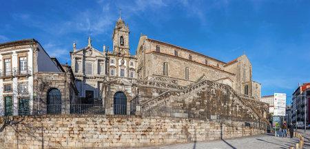 14th century: Porto, Portugal. December 29, 2014: Sao Francisco Church. 14th century Gothic architecture in the main temple. Unesco World Heritage Site Editorial
