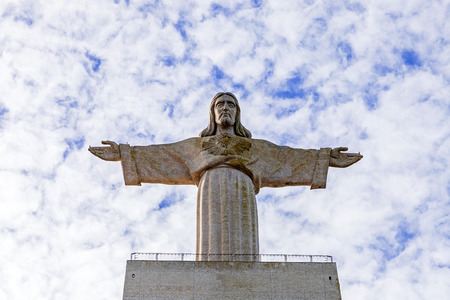christ the king: Cristo-Rei or King Christ Sanctuary in Almada, the second most visited sanctuary in Portugal,