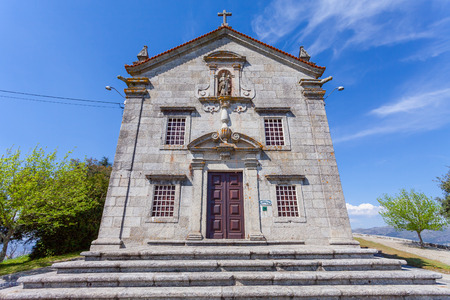 neoclassical: Povoa de Lanhoso Portugal. April 06 2015: Sanctuary of Nossa Senhora do Pilar. Built with stones of the nearby castle which is connected to the Portuguese independence. Baroque Mannerist.
