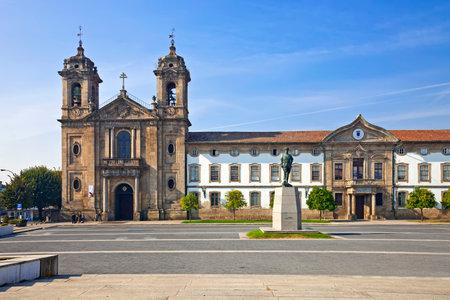 neoclassical: Braga, Portugal - October16, 2015: Populo Church. Mannerist, rococo and neoclassical architecture.