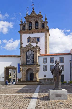 18th: Braga, Portugal - July 27, 2015: Nossa Senhora da Torre chapel, a landmark of the city. 18th century religious architecture.
