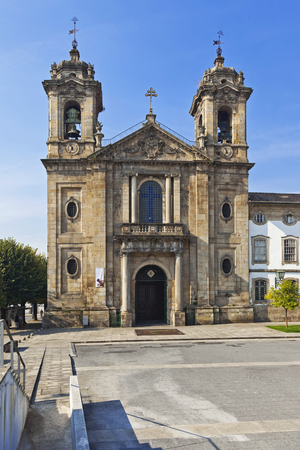 mannerism: Braga, Portugal - October16, 2015: Populo Church. Mannerist, rococo and neoclassical architecture.