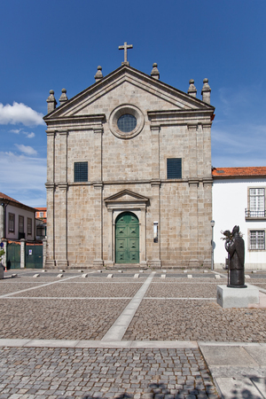 16th century: Braga, Portugal - July 27, 2015: Sao Paulo Church. 16th century Mannerist style religious building.