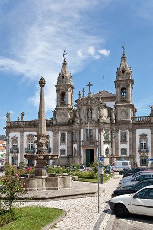 marcos: Braga, Portugal - July 27, 2015: Sao Marcos Hospital Church. 18th century baroque architecture.