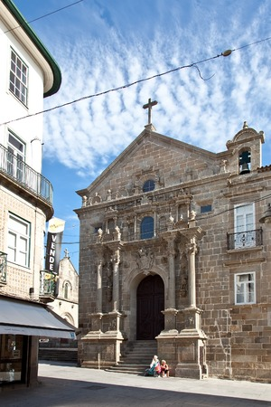 religious building: Braga, Portugal - July 27, 2015: Misericordia Church. Renaissance religious building of the 16th century in the historical center of the city.