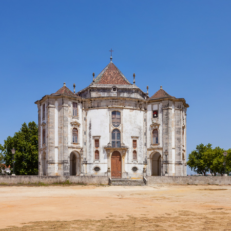baroque architecture: Obidos, Portugal - August, 2015: Church of the Senhor do Jesus da Pedra Sanctuary. 18th century Baroque architecture. Editorial