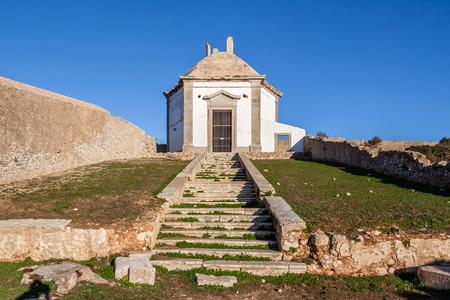 religious building: Casa da Agua Water House, an 18th century fountain and reservoir built for the pilgrims of the Nossa Senhora do Cabo Sanctuary. Espichel Cape, Sesimbra, Portugal.