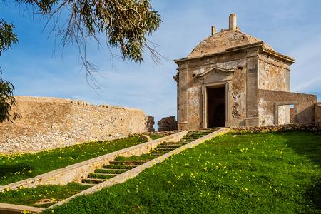 18th: Ruins of the Casa da Agua Water House, an 18th century fountain and reservoir built for the pilgrims of the Nossa Senhora do Cabo Sanctuary. Espichel Cape, Sesimbra, Portugal.