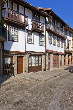 guimaraes: Guimaraes, Portugal. Medieval street of the Historical Center of Guimaraes.
