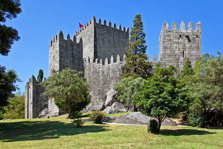 guimaraes: Guimaraes Castle, the most famous castle in Portugal, as it was the birth place of the first Portuguese King and the Portuguese nation.