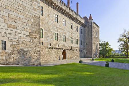 guimaraes: Palace of the Duques of Braganza, a medieval palace and museum in Guimaraes, Portugal.