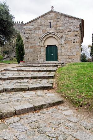 guimaraes: Romanesque Sao Miguel Chapel, near the Guimaraes Castle, where medieval knights are buried. Guimaraes, Portugal.