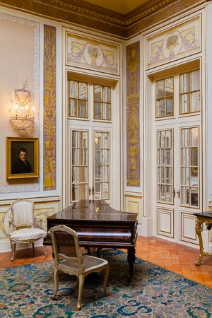 palaces: Queluz, Portugal. Lanternim Room Sala do Lanternim in the Queluz Palace, Portugal. Formerly used as the Summer residence by the Portuguese royal family. Editorial