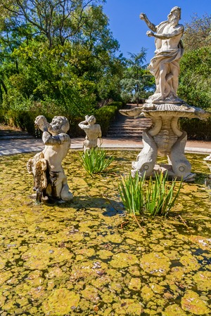 king neptune: Queluz, Portugal. Fountains in the Queluz palace gardens. Decorated with sculptures of King Neptune and Tritons. Formerly used as the Summer residence by the Portuguese royal family.