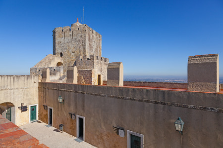 watchtower: Palmela, Portugal - August, 2015: Palmela Castle Watchtower. Editorial