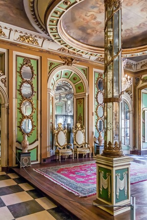 ambassadors: Queluz, Portugal - September, 2015: Ambassadors Room Sala dos Embaixadores in the Queluz Palace, Portugal. Formerly used as the Summer residence by the Portuguese royal family.