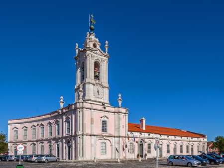 royal guard: Queluz, Portugal - September, 2015: Dona Maria I Historical Hotel in Queluz, Lisbon Portugal. This luxury hotel is built in the former Royal Guard Headquarters.