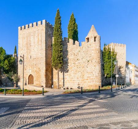 ramparts: Medieval Castle of Alter do Chao, in the Portalegre District. Alto Alentejo, Portugal