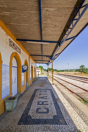 railway transportations: Deactivated train station of Crato. One of the many deactivated stations in the interior of Portugal (Alentejo).