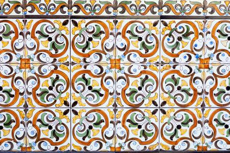 azulejos de cerámica portuguesa tradicionales viejos