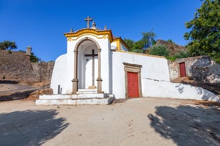 calvary: Calvary Church (Igreja do Calvario) in Castelo de Vide,  Portalegre, Alto Alentejo, Portugal. Stock Photo