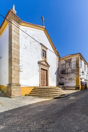 17th: The 17th century Misericordia Chapel, used as Mortuary or Funerary Chapel. Crato, Alto Alentejo, Portugal.