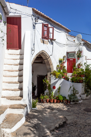 15th century: 15th century Medieval Town-Hall (Antigos Pacos do Concelho) in the Medieval Borough of Castelo de Vide, Alto Alentejo, Portugal.