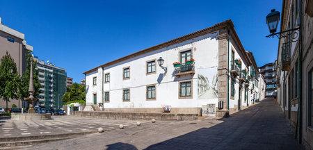 manuel: Vila Nova de Famalicao, Portugal - September 06, 2015: Casa da Cultura (Culture House) of Vila Nova de Famalicao. Manuel Sottomaior Square on the left. Braga, Portugal. Editorial