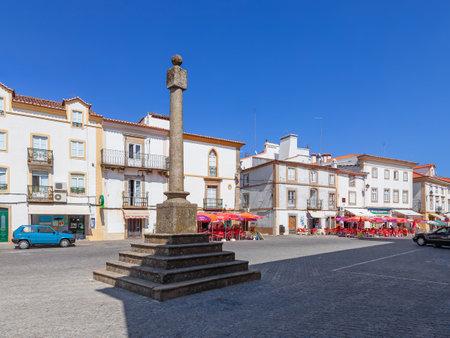 law of portugal: Castelo de Vide, Portugal - July 23, 2015: Pillory of Castelo de Vide. The place where the public justice was executed. Portalegre, Alto Alentejo, Portugal.