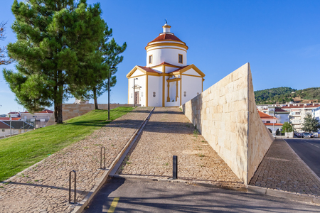 17th: Panorama of the Calvario Church in Portalegre, Portugal. 17th and 18th century.