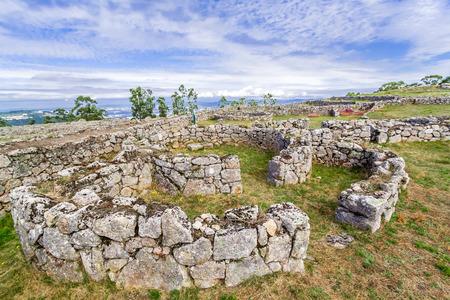 settlements: Citania de Sanfins. A Castro Village (fortified Celtic-Iberian pre-historic settlement) in Pacos de Ferreira, Portugal.