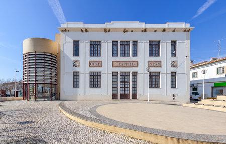 exterior shape: The Cine-Teatro (cinema and theater) of Nisa. Nisa, Portugal.
