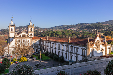 benedictine: S. Bento monastery in Santo Tirso, Portugal. Benedictine order. Built in the Gothic (cloister) and Baroque (church) style.