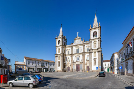 se: Panorama of the Portalegre Cathedral, or Se de Portalegre, Portugal. Mannerist and Baroque styles.