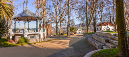 bandstand: Santo Tirso, Portugal. December 22, 2015: Bandstand in the Dona Maria II Park.